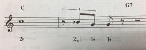 Arrow harmonica tabs and standard music notation